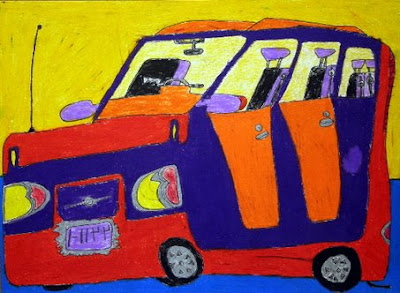Legally Blind 7-Year Loves to Draw Art Cars