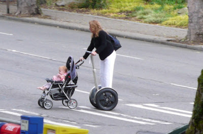 Segway Mom Pushing a Stroller