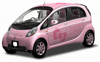 Hello Kitty Mitsubishi Car