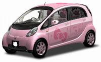 Hello Kitty Mitsubishi Car