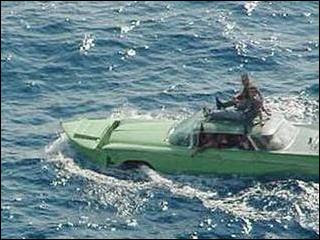 Buick Cuban Car Floating in the Ocean