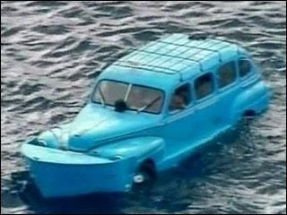 Mercury Cuban Car Floating in the Ocean