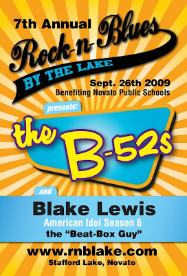 Rock'n Blues Festival by the Lake - 4x6 Flyer Front