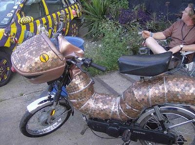 Penny Art Bike named Copperhead