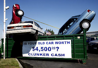 Cash For Clunkers Sculpture