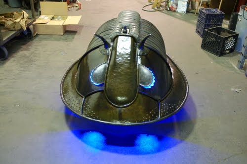rilobite Vehicle with the lights on