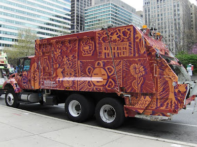 Tribal Garbage Art Truck