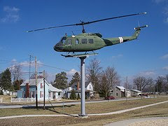 helicopter on pole