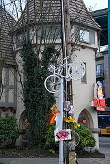 White bike on Pole