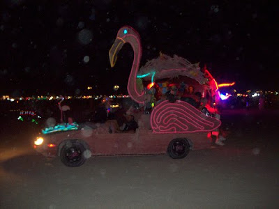 Flamingo Mutant Vehicle with El wire
