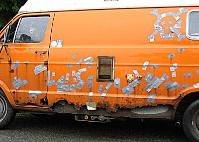 Rust Repair Duct Tape Van Job