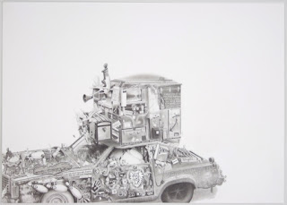 Duke Drawing Art Car by Eric Carlos Bertrand