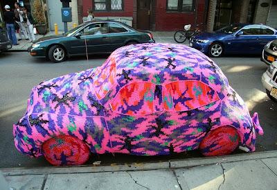 Crochet-Covered Morris Minor for Sale on eBay