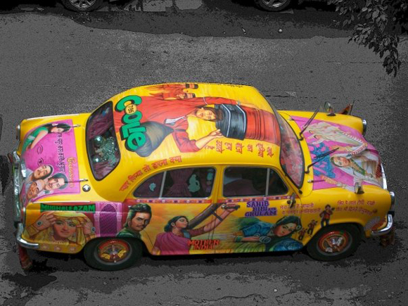 Basanti the Bollywood Amby - Bollywood Art Car Taxi Top