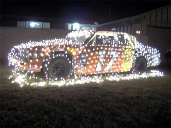 NASCAR Christmas Car with Lights - Art Car