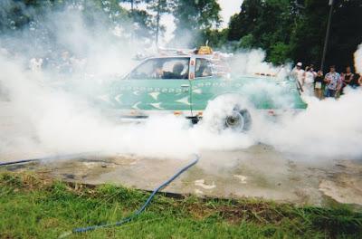 Jeff Towns Art Car  Burns Rubber