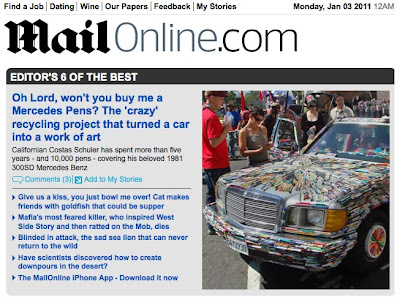 Mercedes Pens Makes Daily Mail Editors Top Six