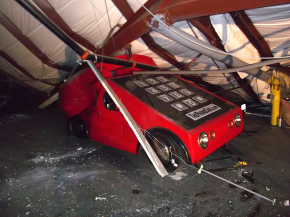 Art Car Phone Looses Dial Tone - Destroyed by Roof Collapse