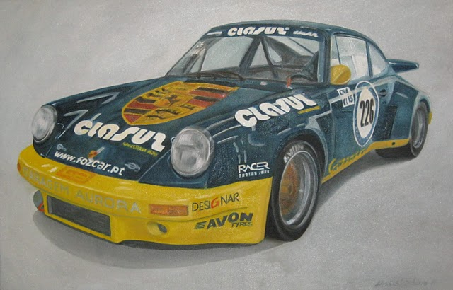 d'Assis Cordeiro 2010 - Porsche 911 RSR 3000 - 1974 - Óleo s/ Tela - Oil on Canvas