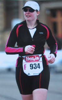 Mom running the Prague Half-Marathon