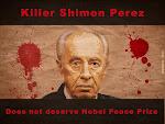 وقع لسحب جائزة نوبل من عضو الهجانا الارهابي بيريز