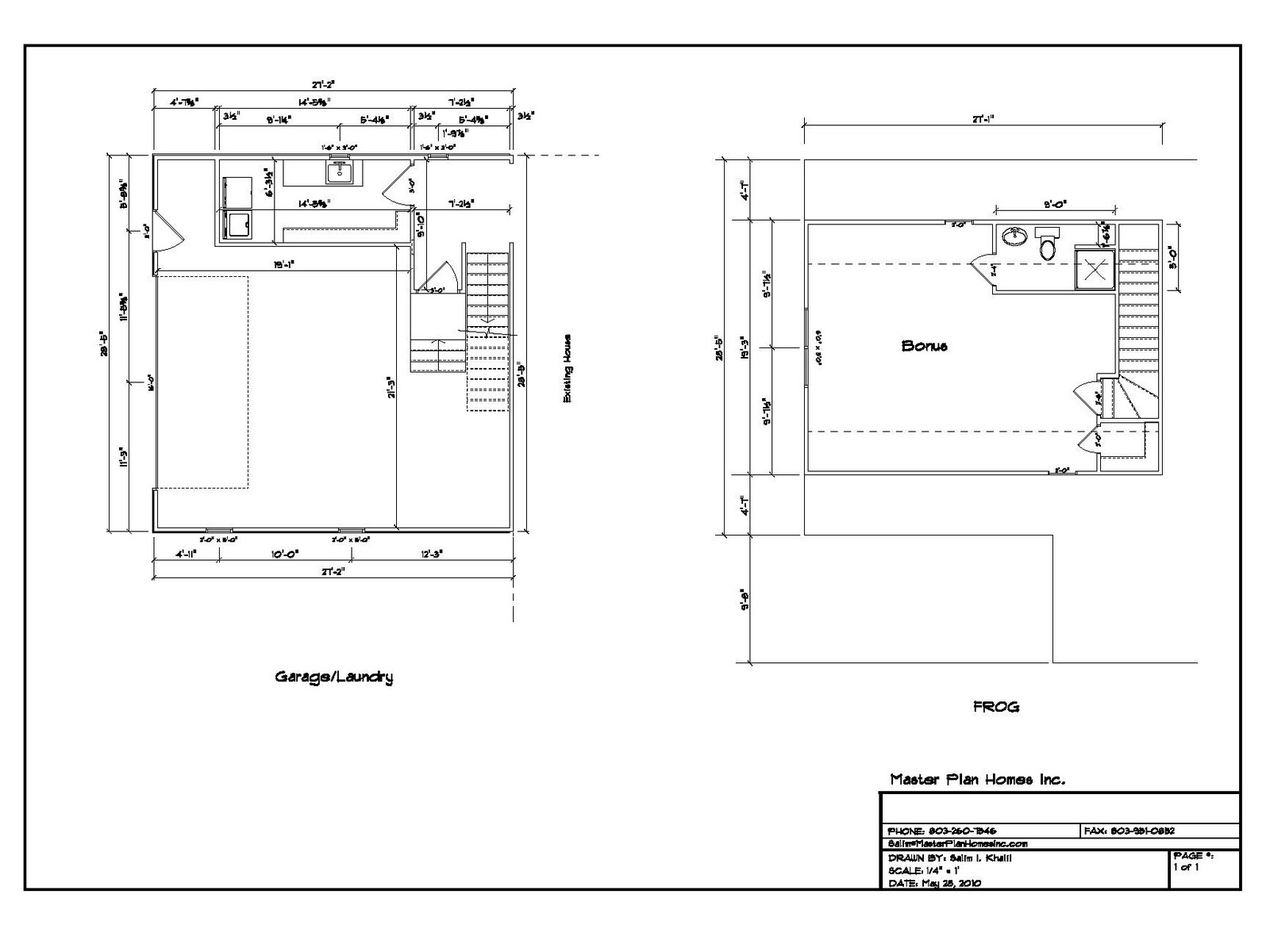Attached Garage Addition Plans