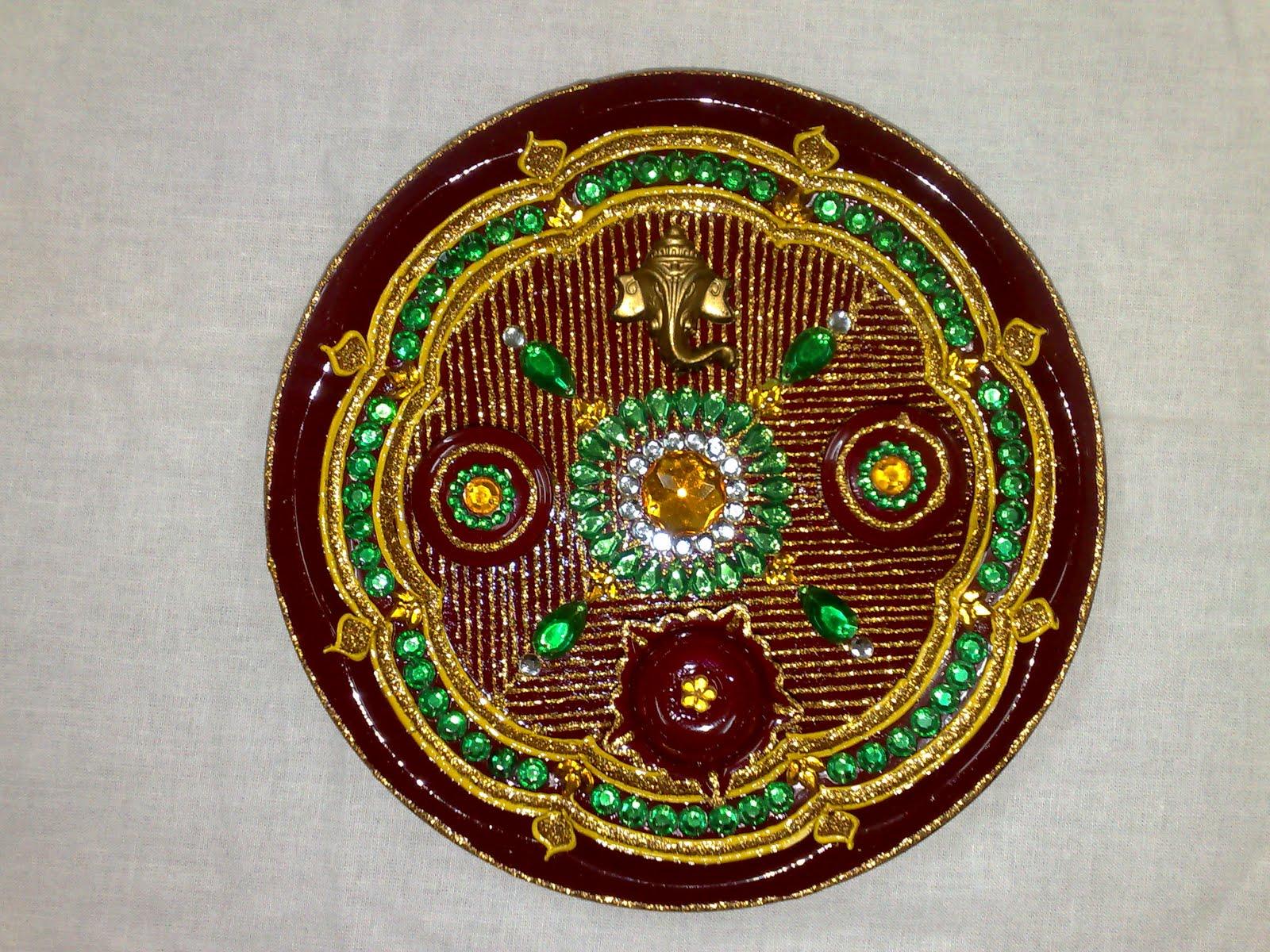 Vaibhavi creations rakhi thali aarti thai decorative thali wedding rakhi thali aarti thai decorative thali wedding thali pooja thali junglespirit Gallery