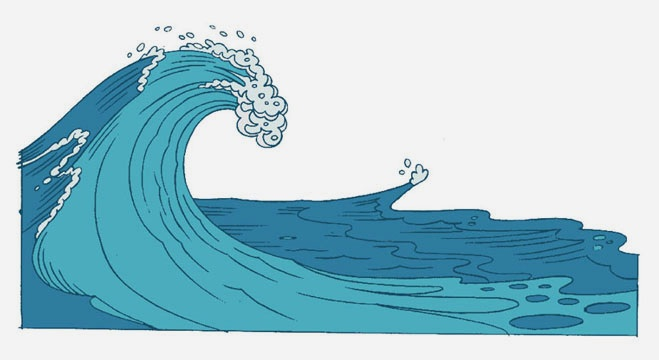 how to draw cartoon waves