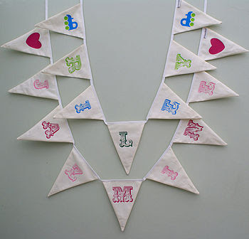 New circus font bunting