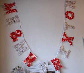 red polka dot garland