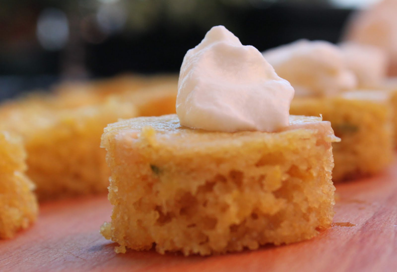 Lemon Polenta Cake With Mascarpone Cream