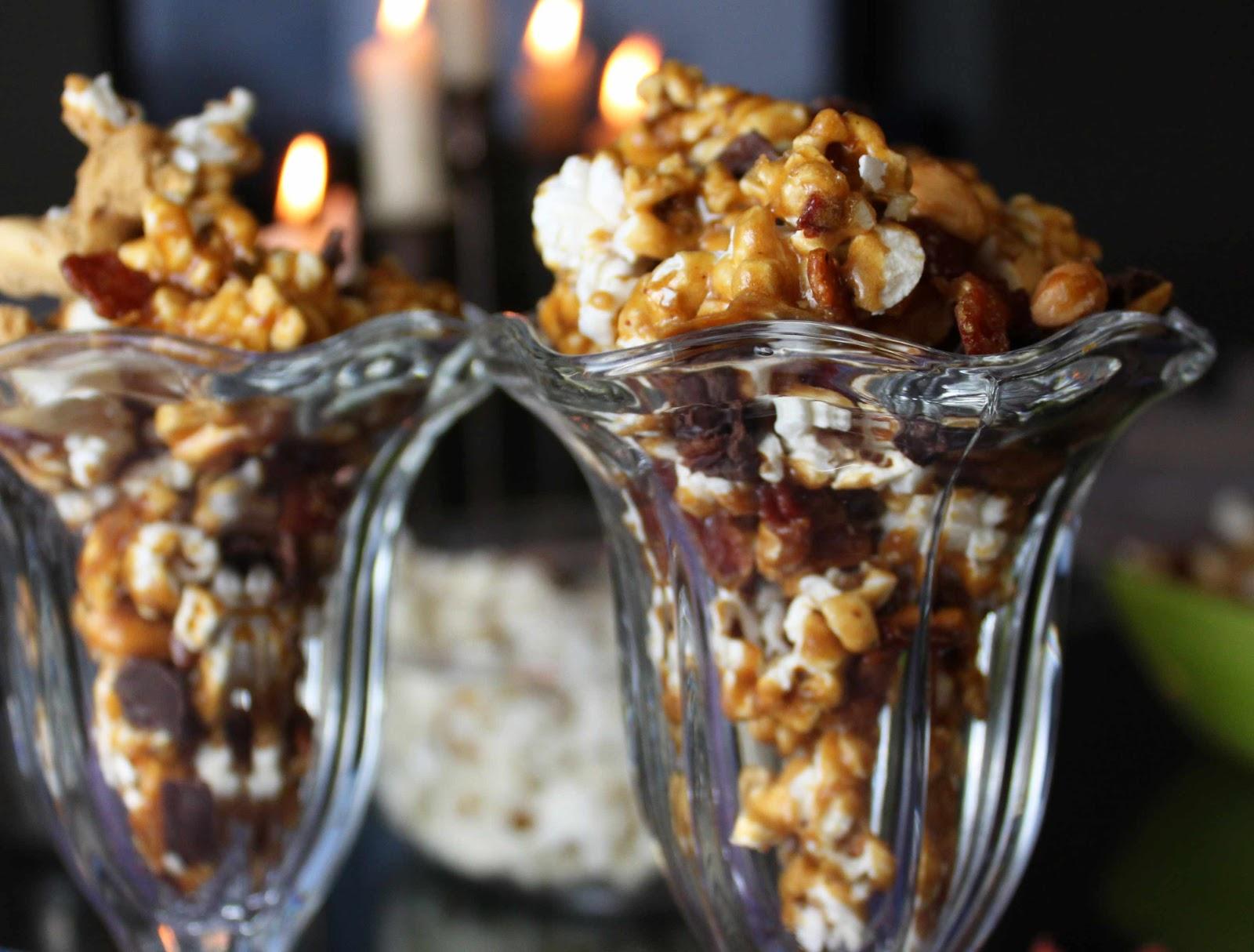 Fat and Happy Blog: Chocolate Bacon Caramel Popcorn