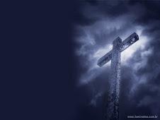 É na cruz.....