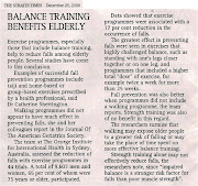 Balance Training Benefits Elderly