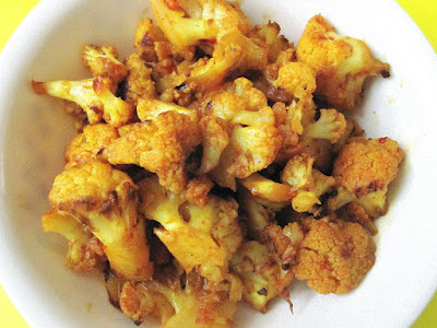 Cauliflower Fry ~ Simple, Fast and Easy