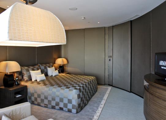 Hoteloscopy armani hotel dubai for Burj khalifa hotel rooms