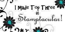I made it to the TOP3 over at Stamptacular