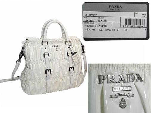 prada replica purse - prada vernice gaufre tote, ombre prada bag