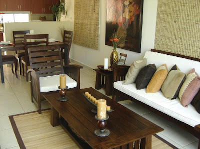 Pon linda tu casa peque os ambiente sala comedor for Como decorar living y comedor pequeno