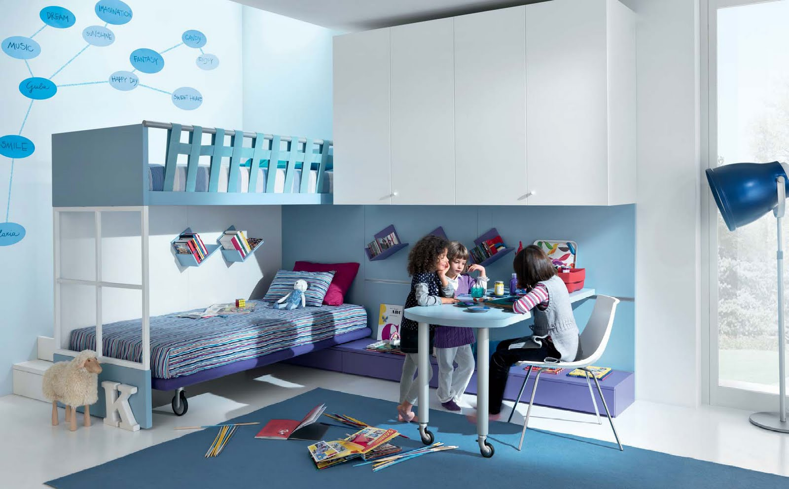 Dormitorios infantiles diseno de interiores - Diseno de habitaciones infantiles ...