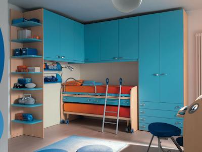 Dormitorios funcionales para ninos diseno de interiores - Camas dobles infantiles para espacios reducidos ...