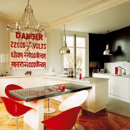Cocinas con barras o desayunadores diseno de interiores - Cocina comedor ideas ...