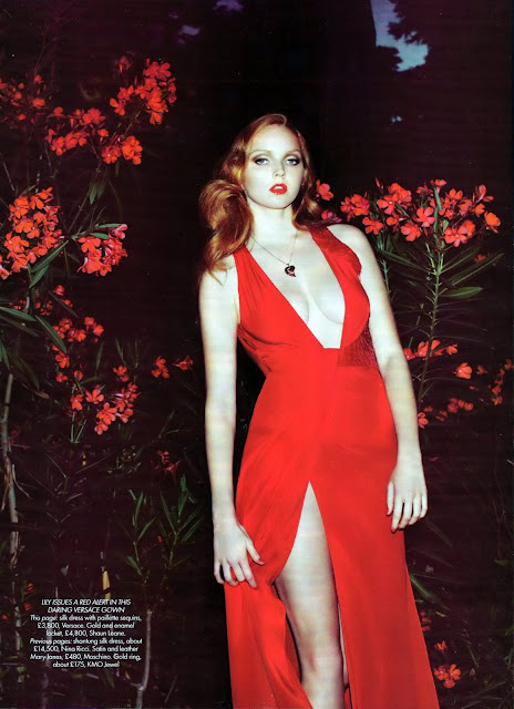 Lily Cole in Bazaar