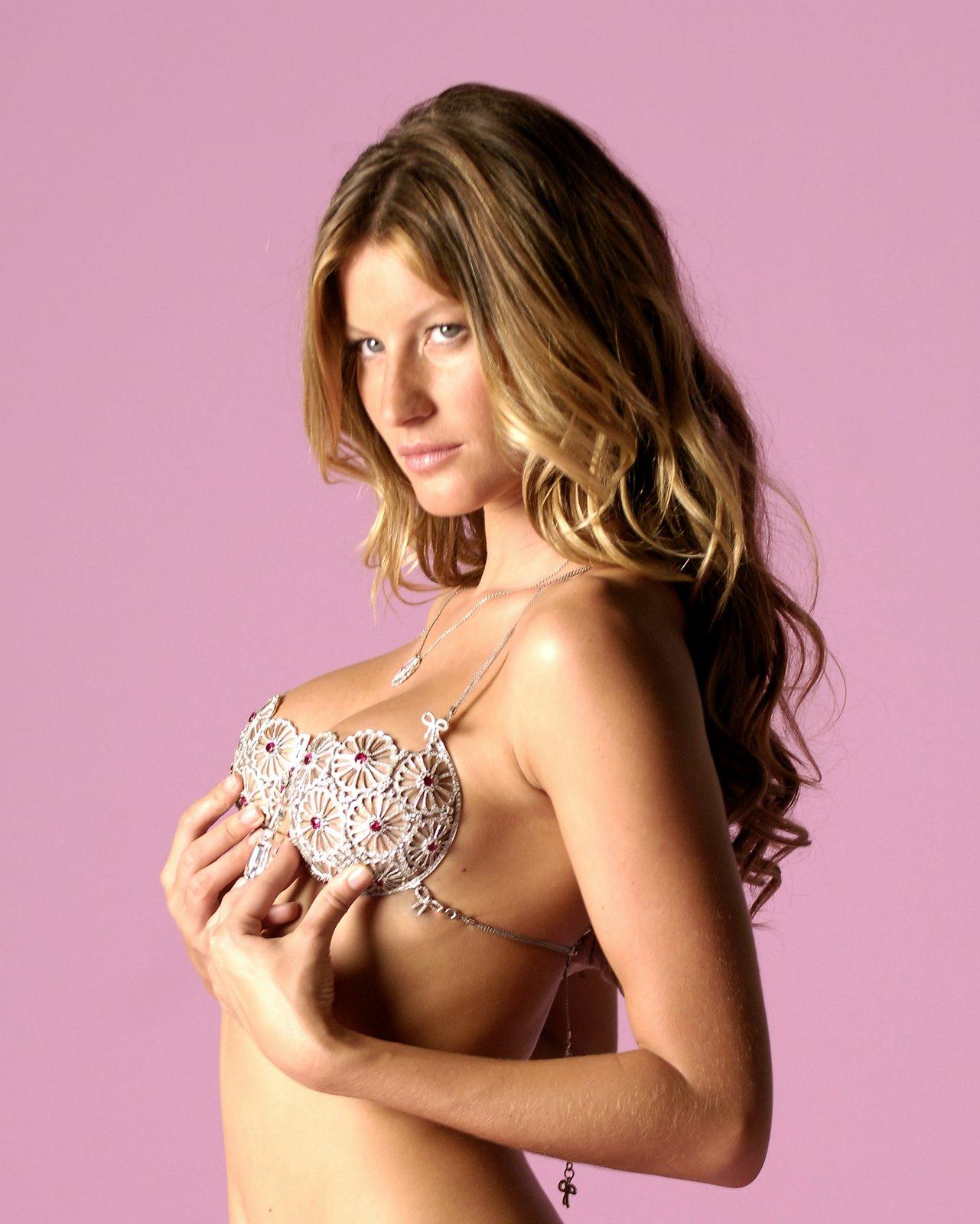 Gisele Bundchen in a sparkly bra