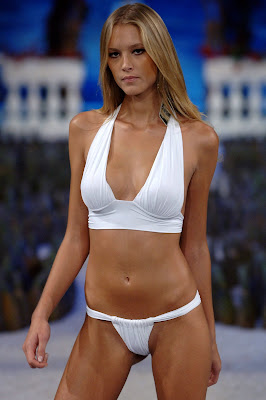 Gianne Albertoni in a white bikini