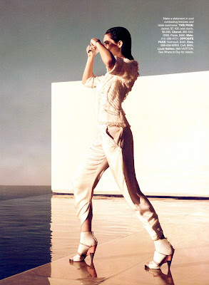 Hilary Rhoda in white