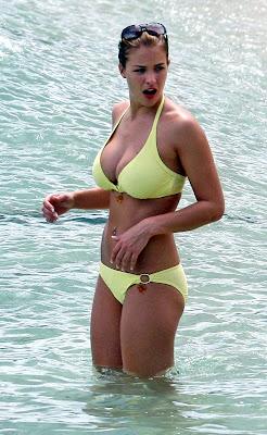 Gemma Atkinson in a skimpy yellow bikini