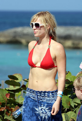 Natasha Bedingfield in a red bikini
