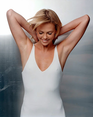 The lovely Charlize Theron in white