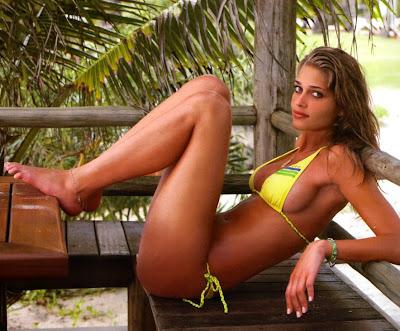 Ana Beatriz Barros in a bikini